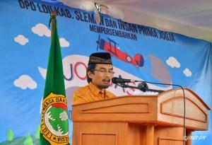 Ketua DPD LDII Sleman pada pembukaan JOGJAS 2015