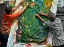 Workshop batik jumput JOGJAS 2015 DPD LDII Sleman